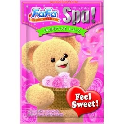 """NISSAN """"FaFa Series Feel Sweet"""" Соль для ванны для всей семьи, c ароматом болгарской розы, 30 г."""
