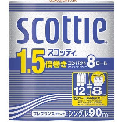 """Crecia """"Scottie 1.5"""" Туалетная бумага, однослойная, 8 рулонов, 90 м."""