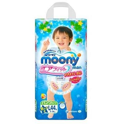 Moony Японские трусики для мальчиков BOY L (9-14 кг), 44 шт.