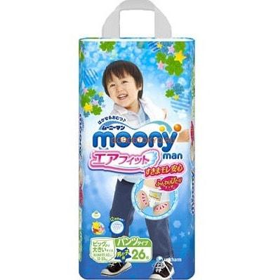 Moony Японские трусики для мальчиков BOY XXL (13-25 кг), 26 шт.