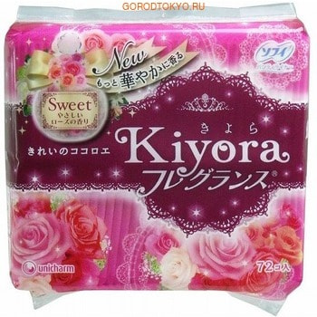 "Unicharm ""Sofy Kiyora Sweet"" ���������� ������������� ��������� � ������ �������� ����, 72 ��."