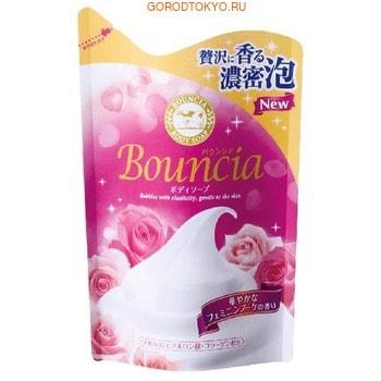 """COW """"Bouncia"""" Жидкое увлажняющее мыло для тела """"Взбитые сливки"""", с гиалуроновой кислотой и коллагеном, со сладким цветочным ароматом, запасной блок, 430 мл."""