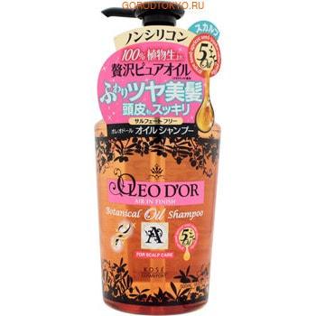 """KOSE Cosmeport """"Oleo D'or"""" Шампунь для повреждённых волос на основе пяти видов масел """"Уход за кожей головы"""", без силикона, с цветочным ароматом, 500 мл."""