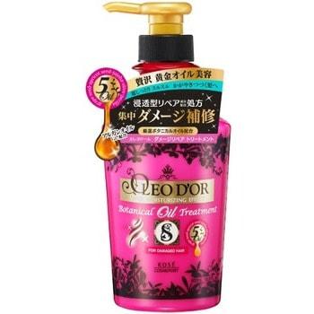 """KOSE Cosmeport """"Oleo D'or"""" Тритмент для повреждённых волос на основе пяти видов масел """"Восстановление и защита"""", без силикона, с ягодно-цветочным ароматом, 500 мл."""