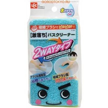 LEC 2 Way Губка-щётка для мытья ванны, акрил и микрощётка, 1 шт.Губки и щётки для чистки ванны, туалета и других поверхностей<br>Акриловая губка качественно очищает ванну и кафель даже без использования моющих средств, не повреждает поверхности.  Способ применения: чтобы избежать царапин, не используйте губку для очистки ванны от песка.  Рекомендуется ручная стирка губки с мылом, при стирке не использовать отбеливатели и кондиционеры.  Не сушить на обогревательных приборах, не гладить.  Состав: пенополиуретан, полипропилен, полиэфир, нейлон.<br>