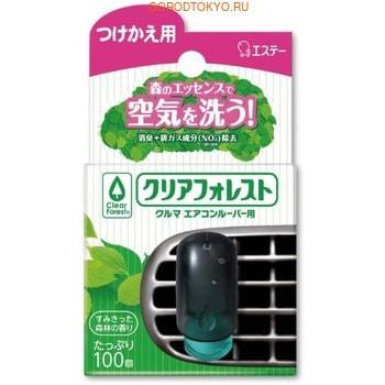 """ST """"Clear Forest"""" Ароматизатор для машины на дефлектор, на основе эфирного масла, с древесным ароматом, 7 мл, запасной блок."""