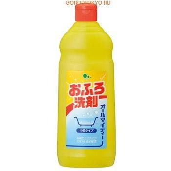Mitsuei Универсальное моющее средство для ванной, 500 мл.Для ванны<br>Универсальное моющее средство идеально подходит для уборки в ванной комнате.  С его помощью легко очистить пластиковые, эмалированные поверхности, а также изделия из нержавеющей стали.  Прекрасно подойдет для мытья сантехники, кафельной плитки и пола в ванной комнате. Содержит анионактивные вещества (бензолсульфонат натрия), которые с легкостью справляются даже со сложными или застарелыми загрязнениями, такими, как мыльный и известковый налет, ржавчина, плесень.  Средство обладает освежающим цитрусовым ароматом.   Способ применения: расход средства 12 мл на 1 квадратный метр.  Нанесите средство непосредственно на загрязненную поверхность и оставьте на 2-3 минуты, затем протрите губкой и промойте водой.   Состав: поверхностно-активное вещество (5% линейный алкил бензолсульфонат натрия), пенообразователь, хелатный агент.<br>