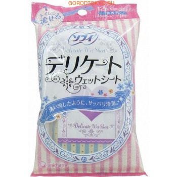 """Unicharm """"Sofy"""" Влажные салфетки для интимной гигиены, без аромата, 12 шт."""
