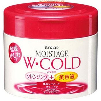 KRACIE Moistage Очищащий и увлажнщий холодный крем против морщин, 230 г.Кремы дл очищени пор и массажа лица <br>Крем надежно удалет макиж, очищает лицо от загрзнений и одновременно ухаживает за кожей.  Крем содержит оливковое масло, которое питает кожу, разглаживает и увлажнет пидермис.  В состав крема входт так же натуральные ультра-увлажнщие компоненты - кстракт шелка, природный коллаген и сквалан, которые напитат Вашу кожу влагой.  Способ применени: нанести крем на влажну кожу лица, помассировать, смыть водой.   Состав: минеральное масло, вода, полисорбат 65, микрокристаллический воск, глицерин, дипропиленгликоль, глицерил стеарат, диметикон, глутамат стеароил натри, стеарат, полисорбат 80, воск, ксантанова камедь, оливковое масло, сквалан, кстракт моркови, гидроксистеариновой кислоты гидрогенизированное касторовое масло, кстракт шелка, танол, цетиловый спирт, пропиленгликоль, детат, парабены, ароматизатор.<br>