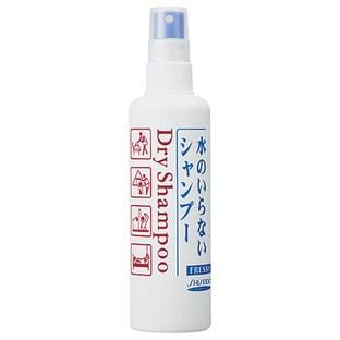 SHISEIDO Fressy Сухой шампунь для всех типов волос, спрей, 150 мл.ДЛЯ НОРМАЛЬНЫХ ВОЛОС<br>Незаменимое средство для занятых людей.  С сухим шампунем очень просто вымыть голову в любое время и в любом месте.  Он позволяет быстро вернуть волосам свежесть и чистоту во время путешествий или после занятий спортом.  Мягко очищает волосы, поглощая излишки себума. Устраняет зуд и перхоть, возвращая волосам легкость и комфорт.  Способ применения: нанесите шампунь на сухие волосы несколько раз на расстоянии 20 см (норма использования зависит от длины волос).  Тщательно помассируйте, а затем сухим полотенцем вытрите голову.  Состав: ПЭГ-40 гидрогенизированное касторовое масло, этанол, вода, экстракт тысячелистника, полисорбат, лимонная кислота, метилпарабен, парабены, отдушка.<br>