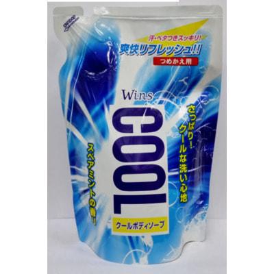 """Nihon """"Wins Cool body soap"""" Охлаждающее мыло для тела, с ментолом и ароматом мяты, 400 мл."""