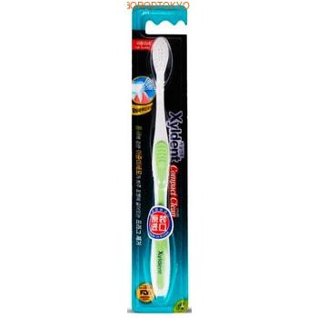MUKUNGHWA Компактная зубная щётка со сверхтонкими концами щетинок разной длины, с кальциевой нанопудрой, мягкая.
