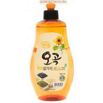 """MUKUNGHWA Увлажняющее средство для мытья посуды, овощей и фруктов в холодной воде """"5 злаков"""", 500 мл."""