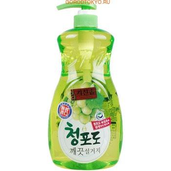 """Mukunghwa Премиальное дезодорирующее средство для мытья посуды, овощей и фруктов в холодной воде """"Зелёный виноград"""", 1 л."""