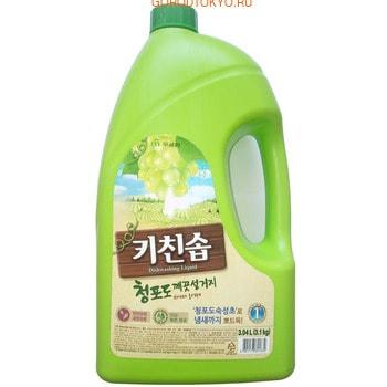 """MUKUNGHWA Премиальное дезодорирующее средство для мытья посуды, овощей и фруктов в холодной воде """"Зелёный виноград"""", 3,04 л."""