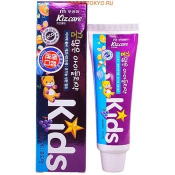 """MUKUNGHWA """"Kizcare Kids"""" Детская гелевая зубная паста, с ярким вкусом виноградного мороженого, с 2 лет, 75 г."""