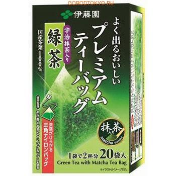 Itoen Premium Зелёный чай с добавлением пудрового чая матча, в пакетиках, 20 шт.Чай и Кофе<br>Зеленый чай высокого качества с добавлением пудрового чая матча, который используется в японской чайной церемонии.  Обладает нежным ароматом и приятным освежающим вкусом.  Имеет натуральный насыщенный цвет.  Чайный лист раскрывается постепенно, полностью отдавая весь вкус и аромат.  Способ приготовления: положите пакетик чая в чашку, залейте горячей водой.  Дайте настояться 30 секунд.  Состав: зеленый чай.<br>