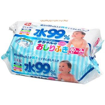 iPLUS Влажные салфетки для новорожденных, 3 х 80 шт.