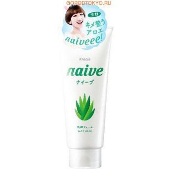 """KRACIE """"Naive"""" Очищающая пенка для лица с экстрактом алоэ, с ароматом зелени и цитруса, 130 г."""