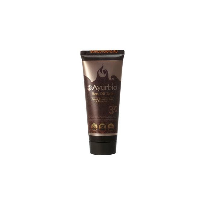 """COSME COMPANY """"Ayurbio Heat Oil Bath Massage Gel & Scrub"""" Разогревающий массажный гель-скраб с антицеллюлитным эффектом, 200 гр."""