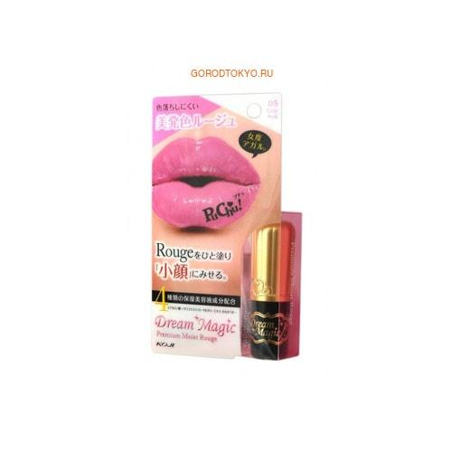 KOJI HONPO «Dream Magic Premium Moist Rouge» Увлажняющая губная помада (тон 05 - нежно-розовый).