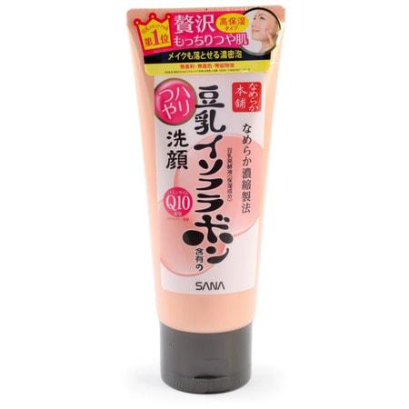 SANA «Soy Milk Moisture Cleansing Wash» Пенка для умывания и снятия макияжа увлажняющая, с изофлавонами сои и капсулированным коэнзимом Q10, 150 г.