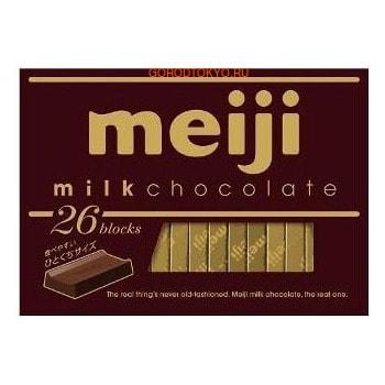 Meiji Натуральный молочный шоколад, коробка, 26 шт.