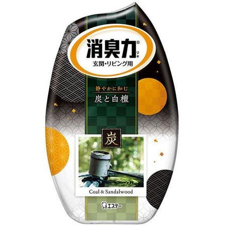 ST «Deodorant Force» Жидкий освежитель воздуха для комнаты «Древесный уголь и сандаловое дерево», 400 мл.
