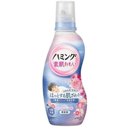 KAO «Hamming» Кондиционер для белья со смягчающим эффектом, с ароматом роз, 600 мл.