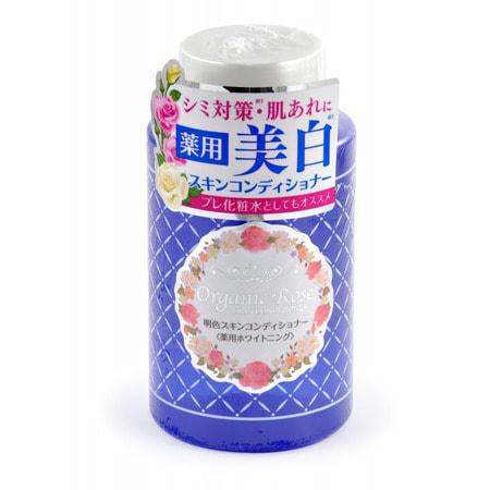"""Meishoku """"Skin Conditioner"""" Лосьон-кондиционер для кожи лица с экстрактом дамасской розы, с экстрактом плаценты и осветляющим эффектом, 200 мл. (фото)"""
