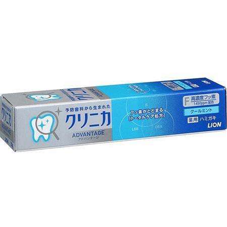 """Lion """"Clinica Advantage Cool mint"""" Дорожная зубная паста усиленного действия, с ароматом освежающей мяты, 30 г."""