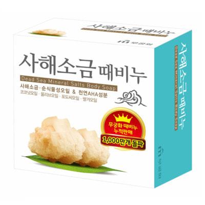 MUKUNGHWA «Dead sea salt scrab soap» Скраб-мыло для тела с солью Мёртвого моря, 100 г.
