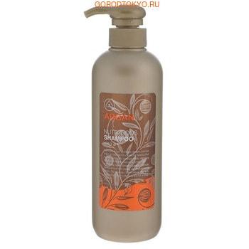 MUKUNGHWA «Argan» Шампунь для питания повреждённых волос, с маслом арганы, алоэ, эвкалиптом и шёлковой эссенцией, 550 мл.