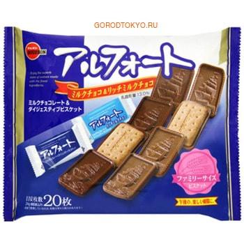 BOURBON «Alfort» Печенье песочное, покрытое молочным шоколадом, 204 г.