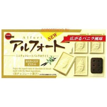 BOURBON Alfort Печенье песочное шоколадное, покрытое белым шоколадом, 55 г.