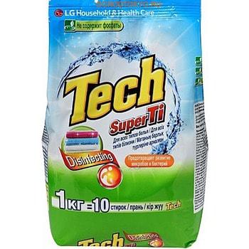 Фото LG «Tech Super Ti» Стиральный порошок для белых и цветных вещей, 1 кг.. Купить с доставкой