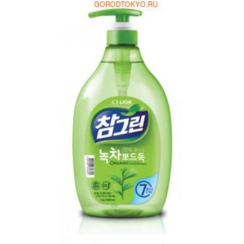 """CJ Lion """"Chamgreen"""" Средство для мытья посуды, с ароматом зелёного чая, 960 мл."""