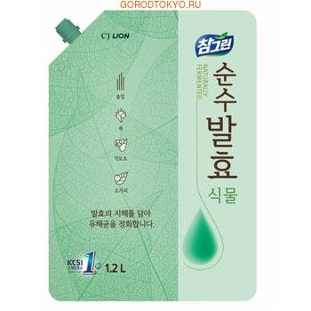 """CJ Lion """"Chamgreen Pure Fermentation"""" Средство для мытья посуды """"Растительные ферменты"""", мягкая упаковка, 1200 мл."""
