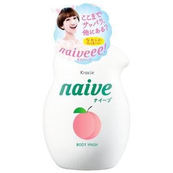 KRACIE «Naive» Увлажняющий гель для душа, с экстрактом и ароматом персика, 530 мл.