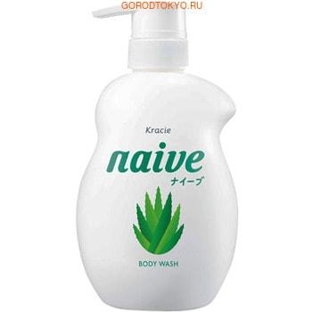 """Kracie """"Naive"""" Увлажняющий гель для душа, с экстрактом алоэ, с ароматом зелени и цитруса, 530 мл."""