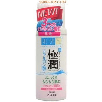 ROHTO «Hada Labo Gokujyun» Молочко с гиалуроновой кислотой, 140 мл.АНТИВОЗРОСТНОЙ УХОД (ОТ З0-ТИ ЛЕТ И СТАРШЕ)<br>Молочко с легкой нежирной текстурой предназначено для ухода за кожей лица.  Активные компоненты в составе молочка доставляют влагу в глубокие слои кожи и способствуют ее долгому сохранению.  Гиалуроновая кислота обеспечивает насыщенное и длительное увлажнение клеток кожи.  Молочко восстанавливает нарушенный липидный барьер, обладает лифтинговым действием и способствует длительному сохранению влаги в коже.  Молочко не содержит ароматизаторов и красителей. Насыщенное увлажняющее молочко Gokujyun с гиалуроновой кислотой отлично удерживает влагу в коже в дневное время.  Легкое, нежное молочко быстро впитывается, не создавая ощущение тяжести на коже. Благодаря тщательному увлажнению кожа становится гладкой и нежной и приобретает здоровый и ухоженный вид.  Не содержит ароматизаторы, искусственные красители, минеральные масла и спирт в составе. Благодаря использованию дневного молочка Gokujyun кожа гладкая, бархатистая и хорошо увлажненная на целый день и в течение всего года: молочко не создает ощущение липкой пленки на поверхности кожи, часто появляющееся после использования обычных увлажняющих средств.  Поэтому  молочко Gokujyun обеспечивает комфортное состояние кожи как в зимний период, когда воздух сильно пересушен отоплением, так и в более влажное, жаркое летнее время года, когда коже требуется уход во время или после нахождения на солнце.  Способ применения: небольшое количество молочка нанести на кожу лица. Для достижения максимального эффекта рекомендуется применять после нанесения лосьона-гидратора.  Состав: вода, глицерин, каприловый/каприновый триглицерид, дипропилен гликоль, гиалуронат натрия, гидролизированная гиалуроновая кислота, ацетилированный гиалуронат натрия, сквалан, поли гидрированный (С6-12 олефин), PPG-10 метиловый эфир глюкозы, фитостерил/ октилдодецил лауроил глютомат, PEG-20 сорбитан изостеарат, глицерил стеарат, стеариловый спирт, д