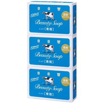 COW Beauty Soap Туалетное мыло с молоком, с ароматом свежести, коробка - 3 шт. по 135 г.ПОДАРОЧНЫЕ НАБОРЫ МЫЛА<br>Мыло для тела обеспечивает коже качественное очищение и увлажнение, защищает от шелушения и сухости.  Содержит молочные жиры, созданные из натурального цельного коровьего молока процессом обжига. Натуральные компоненты мыла увлажняют и смягчают кожу, улучшают её защитные свойства.  Мыло образует густую ароматную пену, которая деликатно удаляет загрязнения, не вызывая раздражения кожи.  Нейтральный состав позволяет использовать мыло ежедневно.  Способ применения: смочите мыло водой, взбейте пену до получения нужной консистенции, нанесите на кожу, затем смойте водой.  Состав: мыльная основа, ароматизаторы, молочные жиры (молоко), сквален, вода, стеариновая кислота, оксид титана, EDTA-4NA.<br>