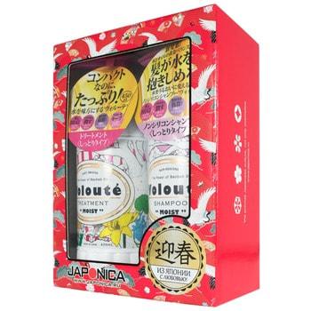 "Japan Gateway ""VOLOUTE Moist"" Набор подарочный по уходу за волосами шампунь, 450 мл + кондиционер, 450 мл."