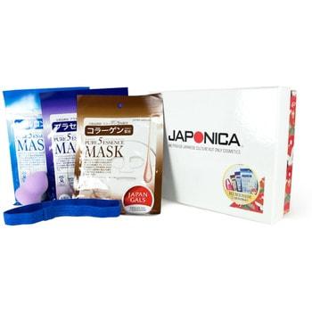 «Ханаби» Набор подарочный по уходу за лицом.ПОДАРОЧНЫЕ НАБОРЫ КОСМЕТИКИ<br>В подарочный набор Ханаби входят: увлажняющая маска с гиалуроновой кислотой Japan Gals; питательная маска для лица с плацентой Japan Gals; восстанавливающая упругость маска с коллагеном Japan Gals; узкая повязка для волос и спонж для макияжа. <br>Маска с гиалуроновой кислотой дарит увлажнение и упругость даже для очень сухой кожи.  Маска с коллагеном уменьшает морщины и выравнивает текстуру кожи.  Маска с плацентой нормализует кожно-жировой баланс, улучшает цвет лица и снимает воспаления.<br><br>JAPAN GALS Pure5 Essence Маска с гиалуроновой кислотой 1 шт<br>JAPAN GALS Pure5 Essence Маска с коллагеном 1 шт<br>JAPAN GALS Pure5 Essence Маска с плацентой 1 шт<br>Бьюти-спонж для удобного нанесения или снятия макияжа<br>Повязка для волос (узкая) для комфортного использования маски<br>JAPONICA Коробка подарочная с крышкой 2016<br><br>Состав маски с гиалуроновой кислотой: вода, BG, глицерин, гиалуроновая кислота, аскорбил фосфат магния, экстракт сои, ферментированное соевое молоко, гидроксиэтилцеллюлоза, пальмовое масло, алкил, PG, димониум хлорид фосфат, феноксиэтанол, метилизотиазолинон, лимонная кислота, антикоагулянт.  Состав маски с коллагеном: вода, BG, глицерин, растворенный коллаген, аскорбил фосфат магния, экстракт сои, ферментированное соевое молоко, гидроксиэтилцеллюлоза, пальмовое масло, алкил, PG, димониум хлорид фосфат, феноксиэтанол, метилизотиазолинон, лимонная кислота, антикоагулянт.  Состав маски с плацентой: вода, BG, глицерин, экстракт плаценты, аскорбил фосфат магния, экстракт сои, ферментированное соевое молоко, гидроксиэтилцеллюлоза, пальмовое масло, алкил, PG, димониум хлорид фосфат, феноксиэтанол, метилизотиазолинон, лимонная кислота, антикоагулянт.<br>