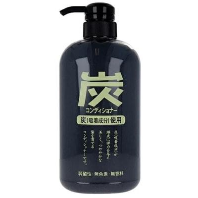 """Junlove """"Charcoal conditioner"""" Кондиционер для волос с древесным углём, 600 мл."""