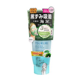B&C Laboratories «Tsururi Mineral Clay Pack» Крем-маска для лица с белой глиной, коралловой пудрой и морскими водорослями, 150 г.