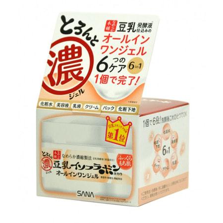 """Sana """"Soy Milk Gel Cream"""" Крем-гель увлажняющий с изофлавонами сои 6 в 1, 100 г. (фото)"""