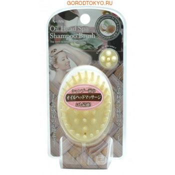 VESS «Oil Head Spa Shampoo Brush» Массажёр для кожи головы с кокосовым маслом. от GorodTokyo