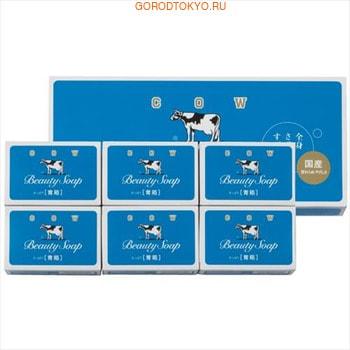 COW Beauty Soap - Чистота и свежесть Молочное освежающее мыло, синяя упаковка, 6 шт.&amp;#215;85 гр.ПОДАРОЧНЫЕ НАБОРЫ МЫЛА<br>Молочная нежность для вашей кожи!<br>Мыло для тела Cow Brand  в синей упаковке с освежающим эффектом.<br>Содержит молочный жир и сквален. Отлично пенится, питает и очищает кожу.<br>Прохладный аромат жасмина.<br><br>В упаковке 6 шт. по 85 гр.<br>