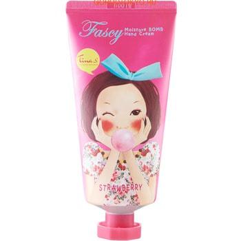 Fascy «Moisture Bomb Hand Cream» Увлажняющий крем для рук с экстрактом клубники, 80 мл.